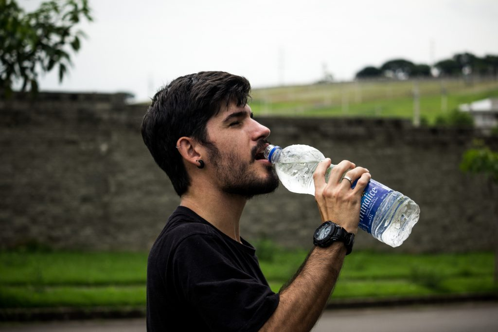 drinking water and staying hydrated