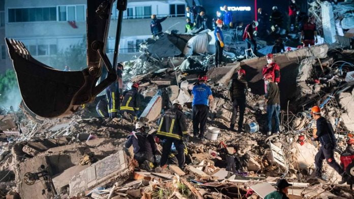 Earthquake in Turkey and Greece of 7.0 magnitude